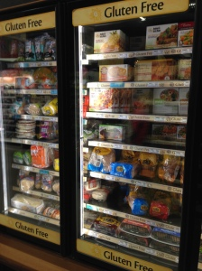 Frozen Gluten Free Foods - at least part of the section!  Crazy!